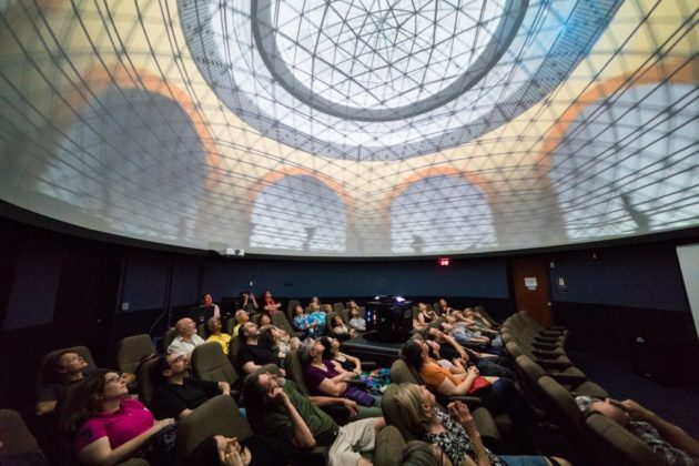 Full dome projection series via Yassine El Mansouri for Arlington Arts