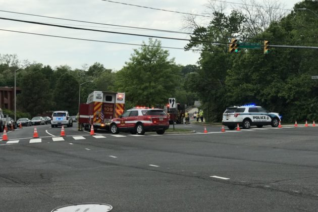 Gas line struck on S. George Mason Drive