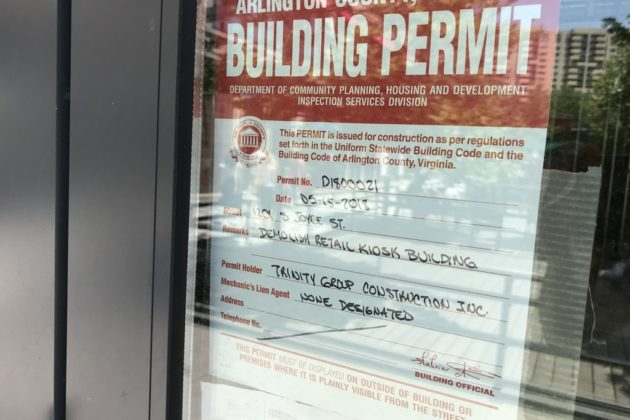 Demolition permits have been issued for a retail kiosk at Pentagon Row