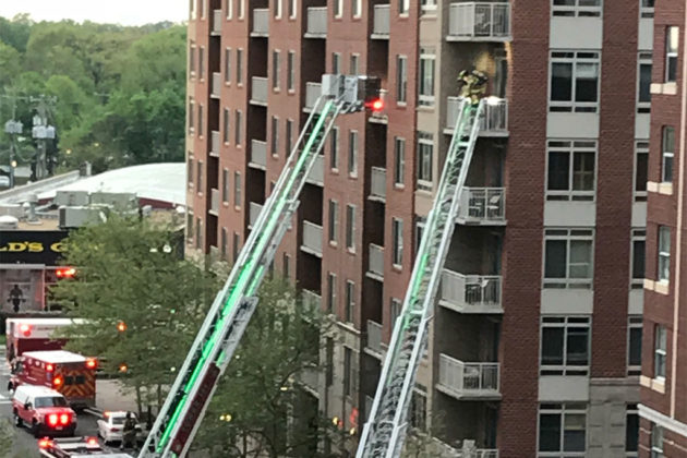 Virginia Square condo fire (photo courtesy Elise B.)