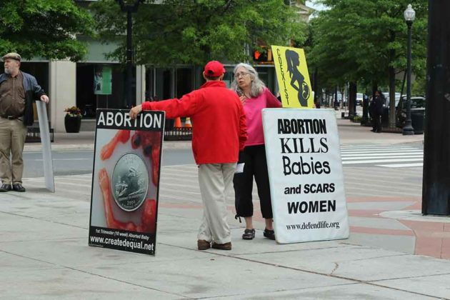 Anti-abortion protest in Clarendon