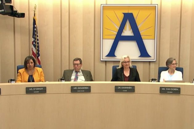 The Arlington School Board meets (photo via Arlington Public Schools)