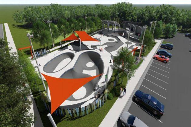 A concept drawing of the new skate park (photo via Arlington County)