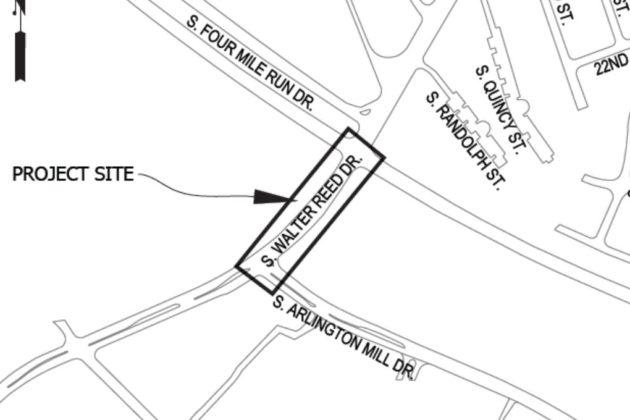 S. Walter Reed Drive project area (via Arlington County)