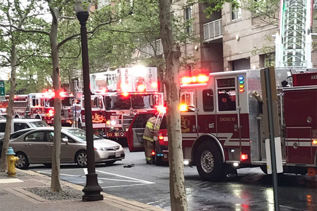 Virginia Square condo fire (photo courtesy Todd B.)