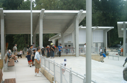 The current interior of Powhatan Springs Skate Park (photo via Arlington County)