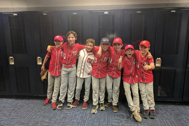 The Little Presidents at Nationals Park June 9 (photo courtesy Catherine Ladd)