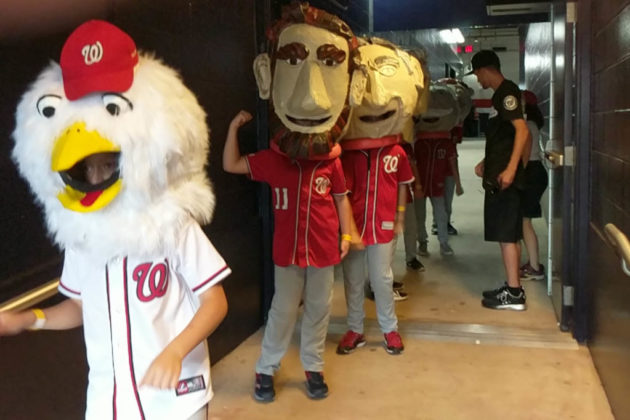 The Little Presidents prepare for the Presidents Race (photo courtesy Catherine Ladd)
