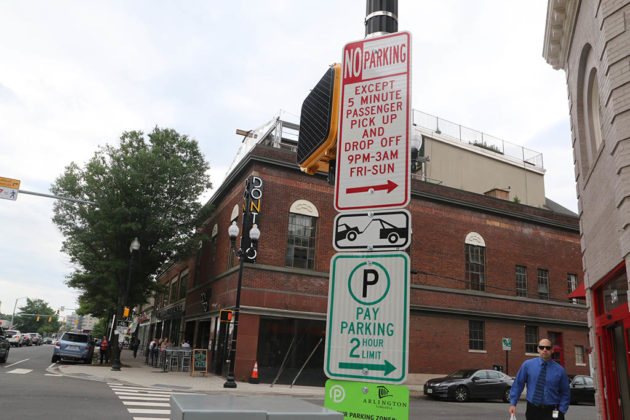 Clarendon drop-off and pick-up zone enforcement sign