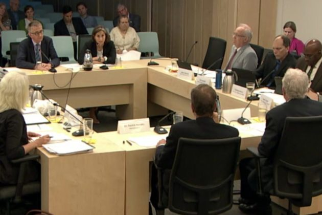 A joint meeting of the County Board and School Board on May 29. (photo via Arlington County)