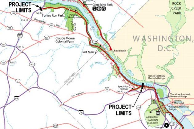 GW Parkway rehabilitation project (via National Park Service)