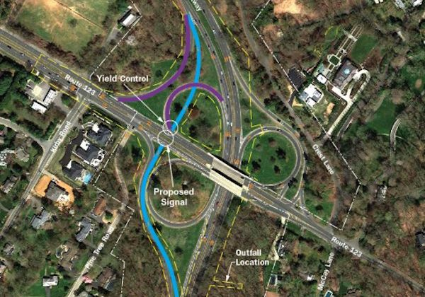 Proposed changes to the GW Parkway's intersection with Chain Bridge Rd. (via NPS)