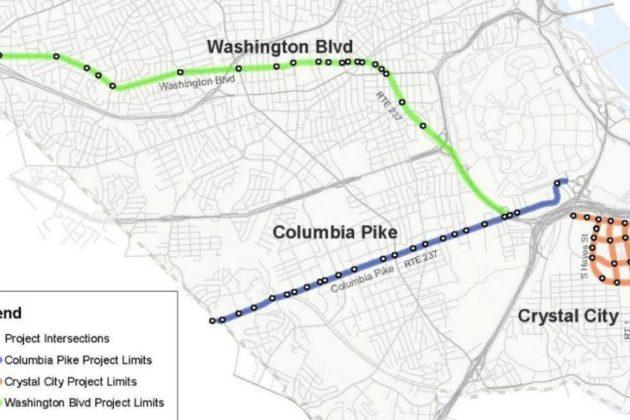Proposed intelligent traffic light improvements (via Arlington County)