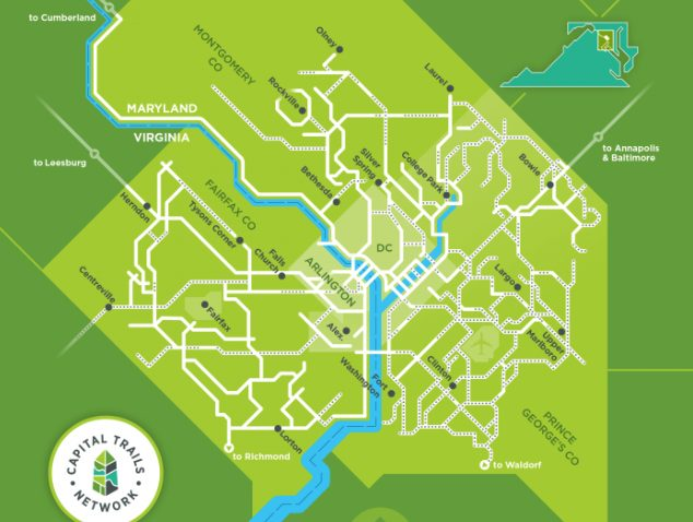 Bike Advocates Craft New Map of DC Region's Cycling Trails to ... on