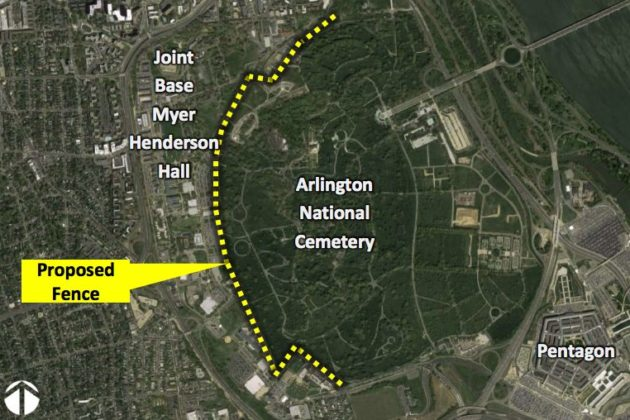 Army Plans New Security Fence Separating Arlington National ... on map of ten thousand islands, map of st pete, map of omaha council bluffs, map of ft morgan, map of fort pierce, map of ft jackson, map of ft lauderdale, map of casselberry, map fort myers fl, map of ft walton, map of fort myers beach, map of ft wood, map of florida, map of punta gorda, map of apopka, map of ft lewis, map of ft collins co, map of inverness, map of gulfport, map of lake buena vista,
