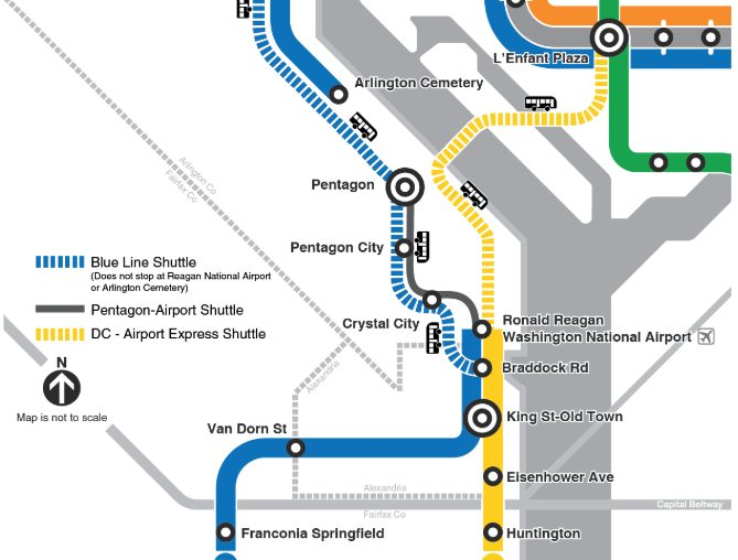 Dc Metro Map Yellow Line.Metro Will Shut Down Three Blue Yellow Line Stations For Lighting