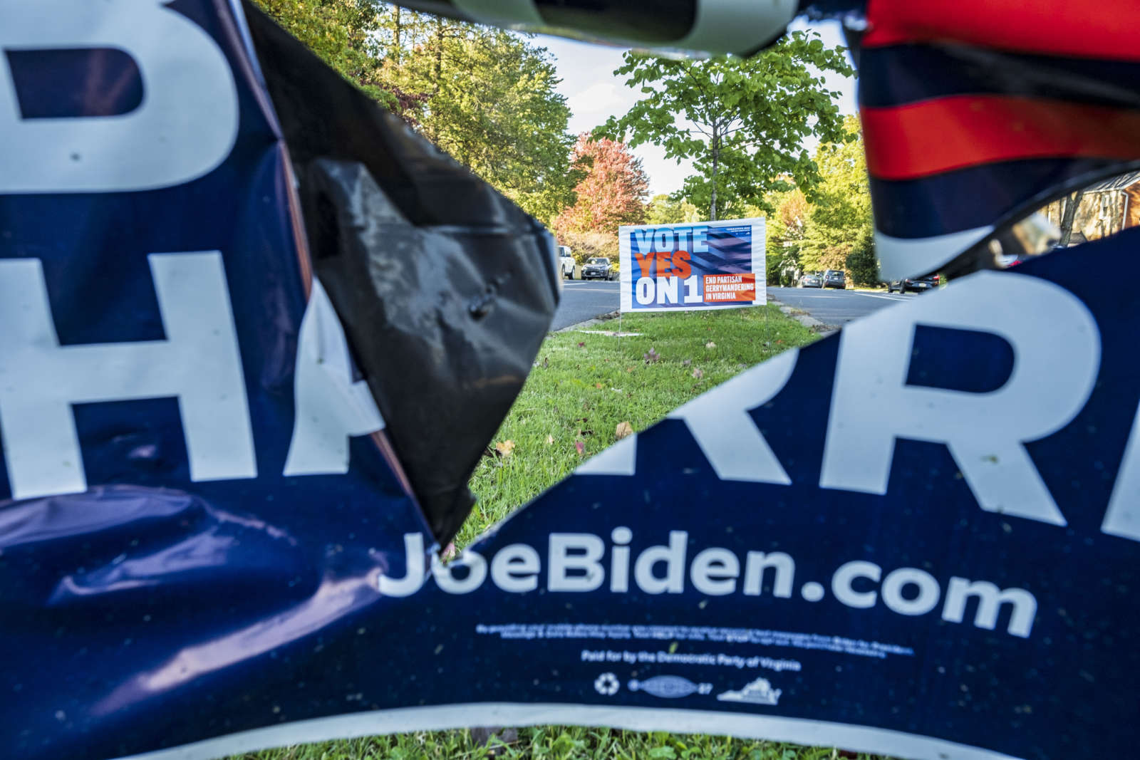 Widespread Political Sign Vandalism Is Continuing in Arlington