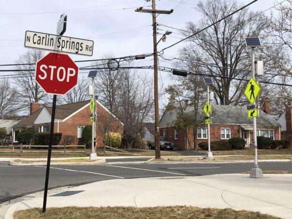 Intersection of N. Carlin Springs Road and N. Edison Street (Photo via Walk Arlington)